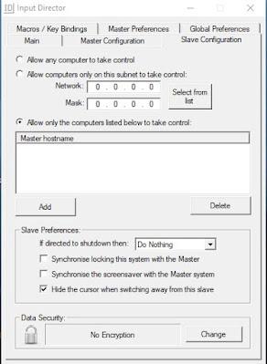 como configurar slave input director