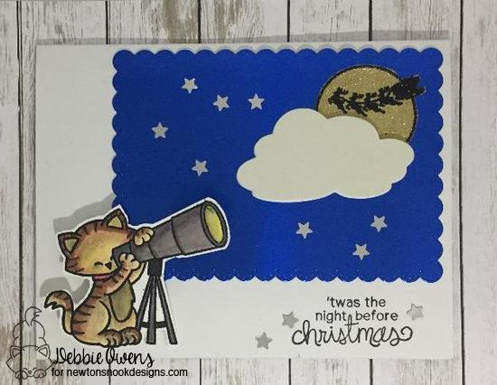 Twas the night before Christmas by Debbie features Cosmic Newton and Newton's Curious Christmas by Newton's Nook Designs; #newtonsnook