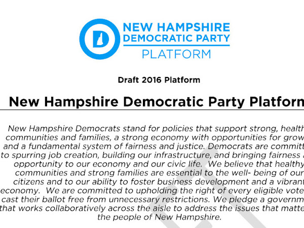 Amendments To New 2016 Draft NHDP Platform Must Be Submitted Before May 23rd 2016