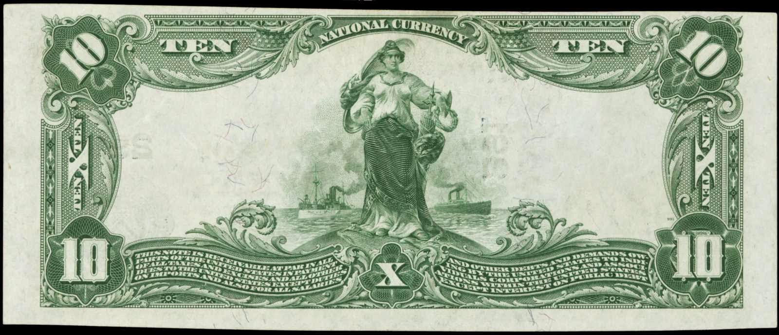 US currency 1902 Ten Dollar National Bank Note