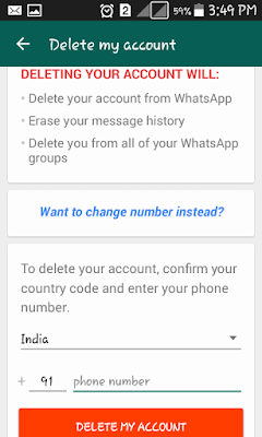 Delete My WhatsApp Account