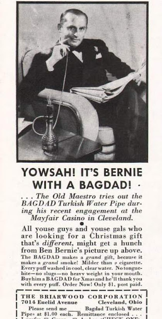 Bernie with a Bagdad Turkish Water Pipe