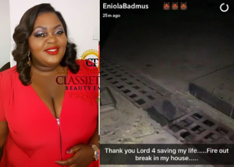 eniola badmus house fire