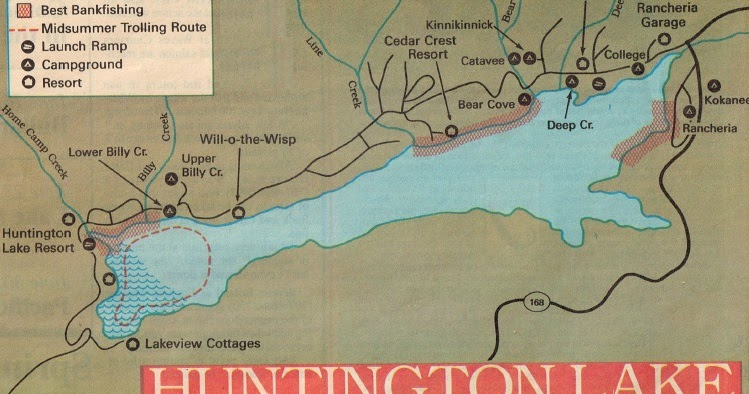 2017 huntington lake fishing map and report how to fish for Fresno fishing report 2017