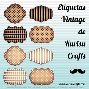 Tags vintage gratis para descargar Kurisu Crafts