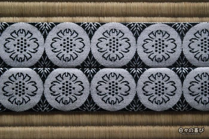 détail motif tissu tatami temple daijoji