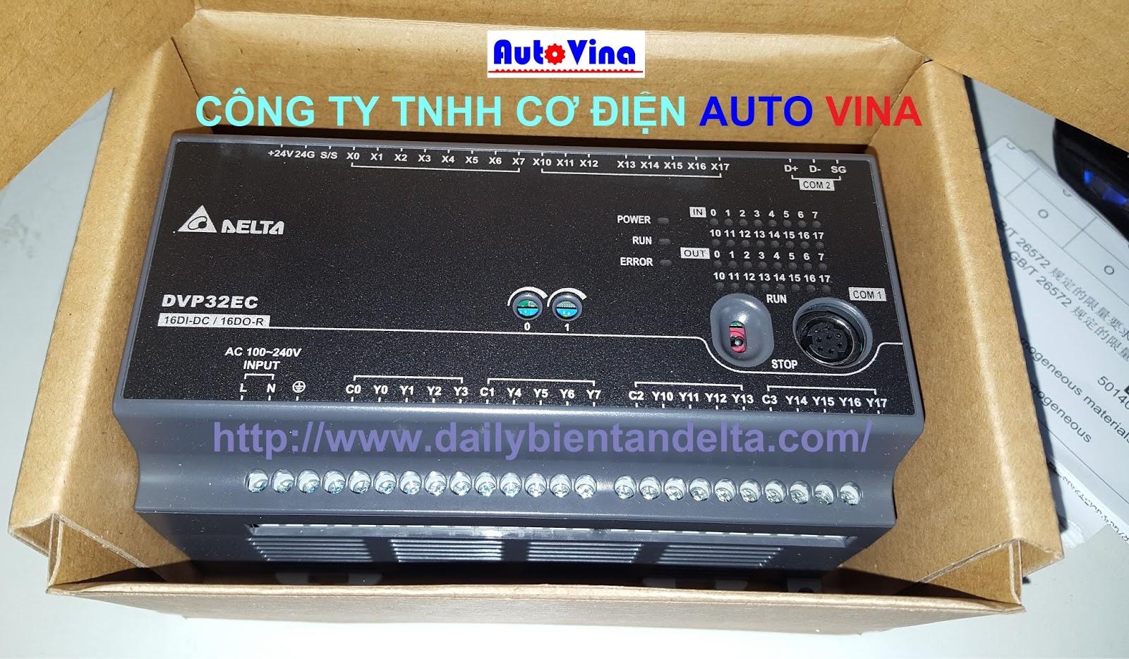 Đại lý bán bộ điều khiển PLC Delta DVP32EC00R3