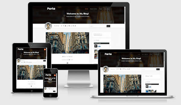 porto blogger template bthemez
