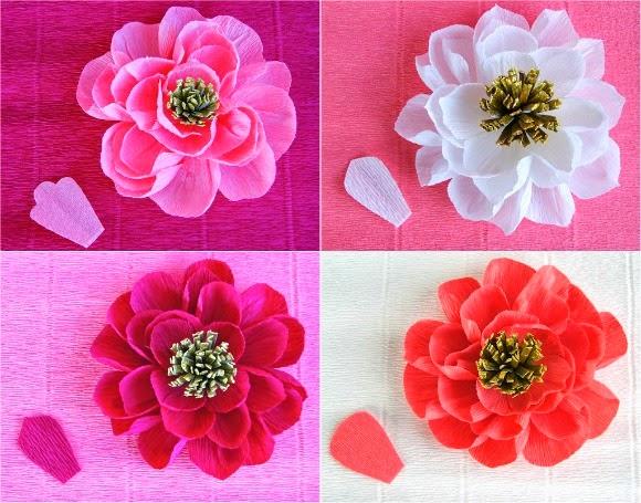 Mahar Hantaran Surabaya Membuat Bunga Cantik Dari Kertas Krep