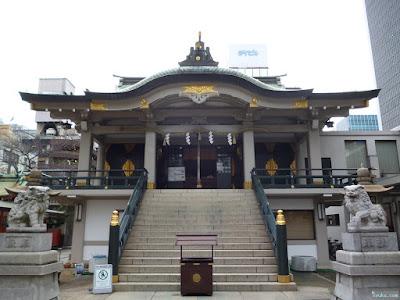 難波神社仁徳天皇御祭神の碑