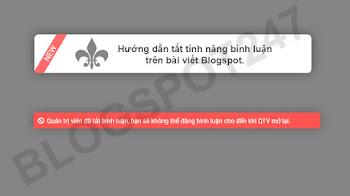 Hướng dẫn tắt tính năng bình luận của bài viết trên Blogspot