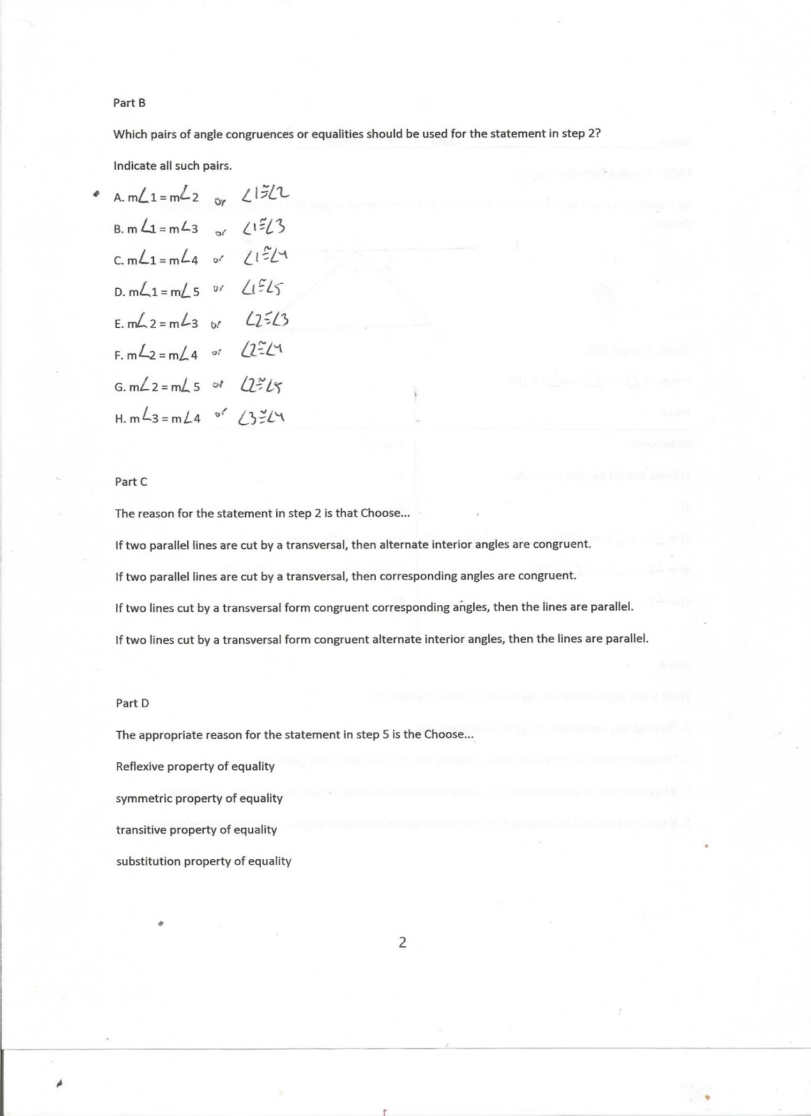 Geometry, Common Core Style: PARCC Practice Test Question 34 (Day 177)