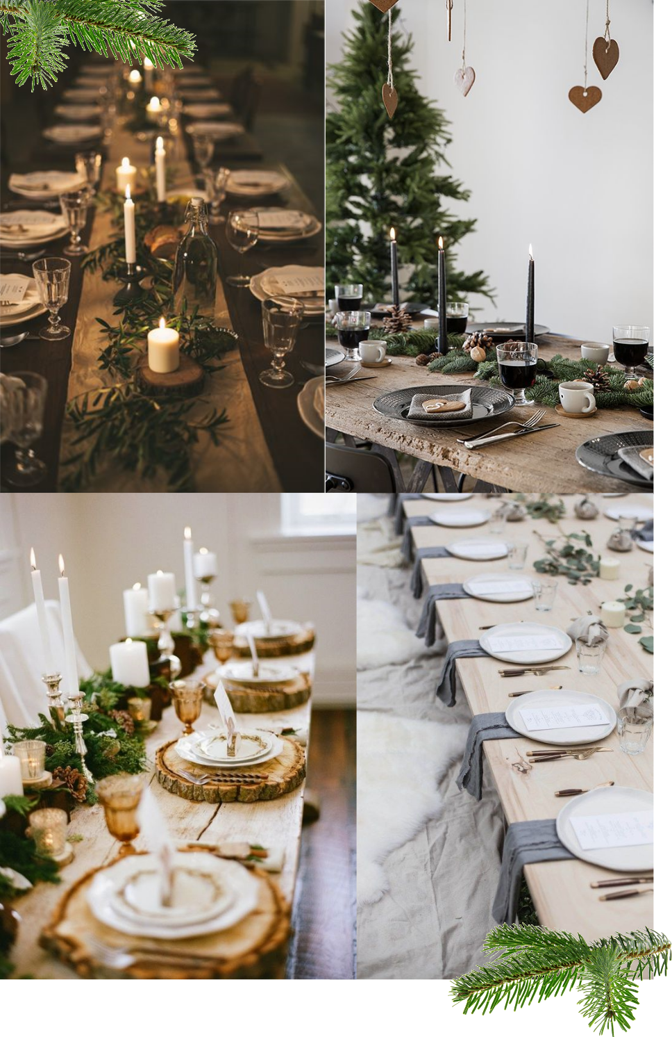 table-theme-fetes-noel-christmas-nature-feuilles-inspiration-chemin-de-table