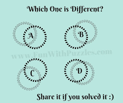 It is Odd One Out Picture Riddle for Kids in which one has to find out which puzzle image is different