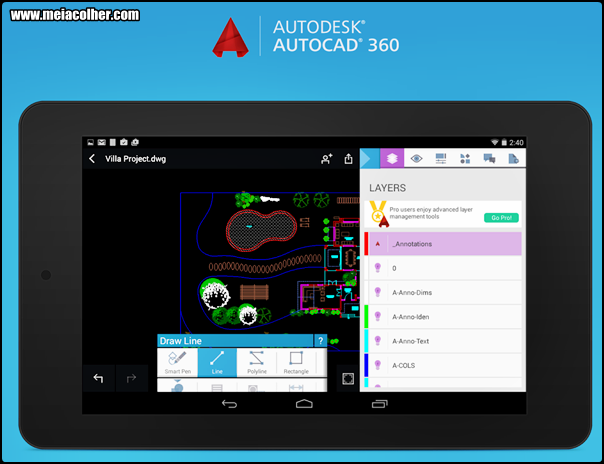 Autodesk® AutoCAD 360 para celular