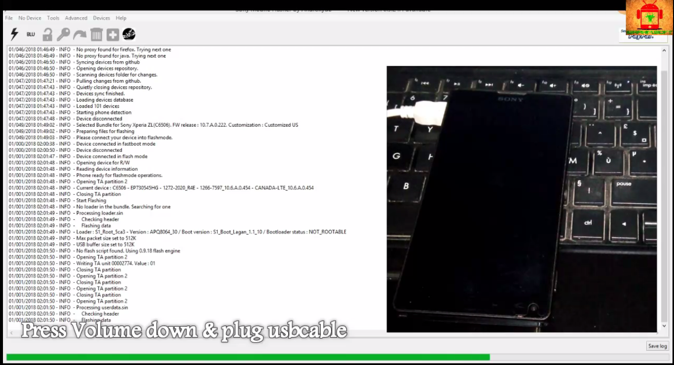 Guide To Flash Sony Xperia ZL C6502 Lollipop 5 1 1 Tested FTF Firmware