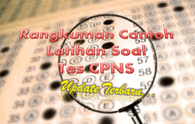 Download Rangkuman Contoh Latihan Soal Tes CPNS Update