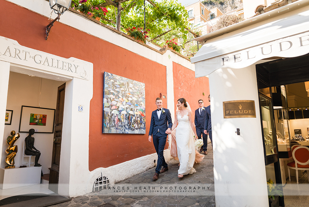 Positano wedding portraits