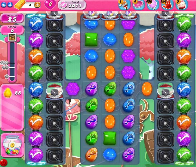 Candy Crush Saga level 2071