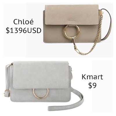 Chloe Fay Small Shoulder Bag Kmart Ring Cross Body Bag  look for less budget fashion high end high street designer dupe