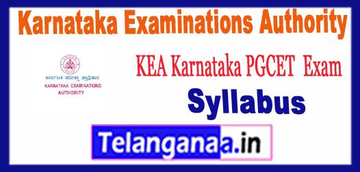 Kar Karnataka Examinations Authority PGCET Syllabus 2018 Sample Model Previous Solved Papers