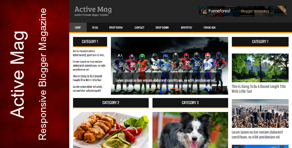 Download Free Active Mag Blogger Template