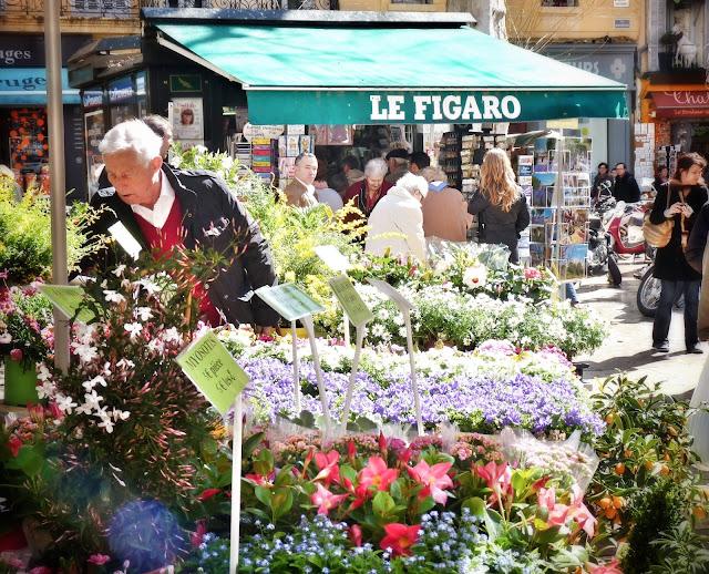 mercado flores Aix en Provence