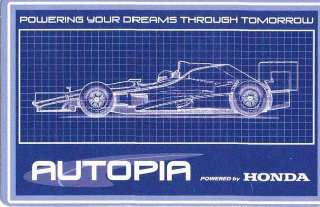 Autopia Driver License Disneyland Honda Back