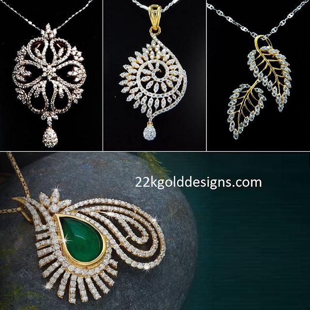 Enticing 18K Diamond Pendants designs