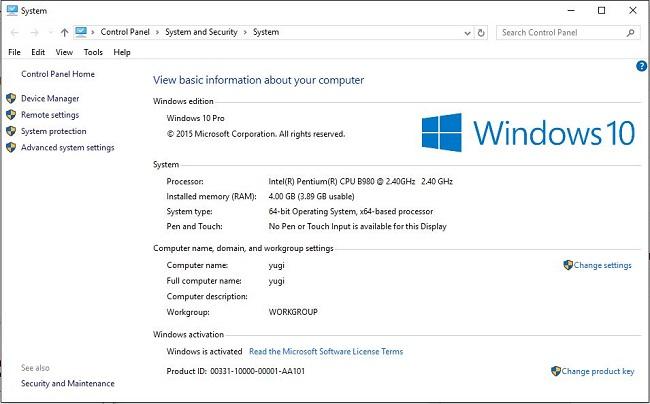 Xem cấu hình máy tính Windows