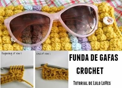 Funda de gafas de crochet instrucciones