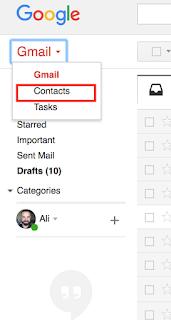 gmail üzerinde grup oluşturma kontaklar