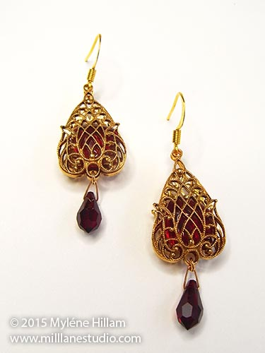 Vintage style filigree earrings
