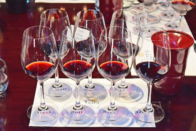 DSC 5307827 Vertical tasting of Simonsig Tiara Bordeaux style red blend and lunch at Cuvée