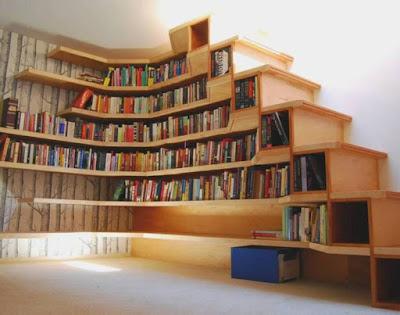 model rak buku minimalis terbaru