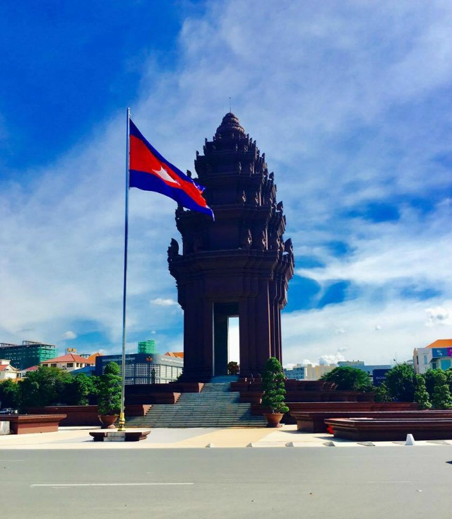 The Independence Museum at Phnom Pehn, Cambodia