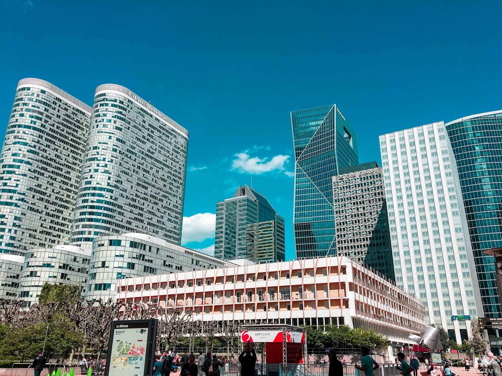My Travel Background : Paris Promenade La Défense - Tour Blanche, tours Coeur Défense
