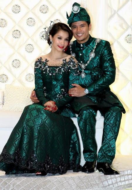 18 Gaun Pernikahan Warna Hijau Paling Baru
