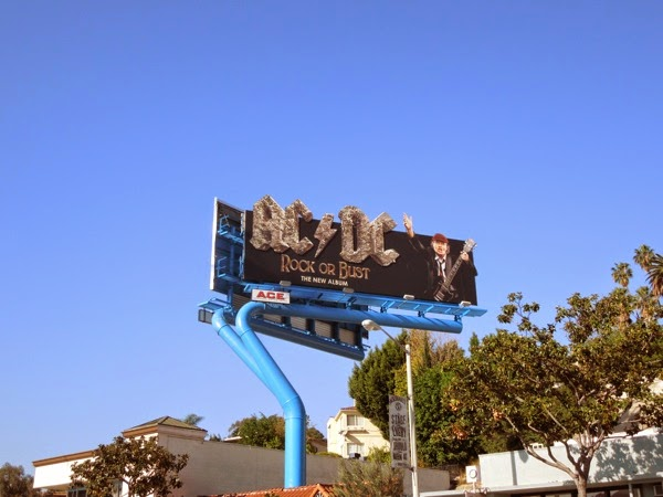 ACDC Rock or Bust billboard Sunset Strip