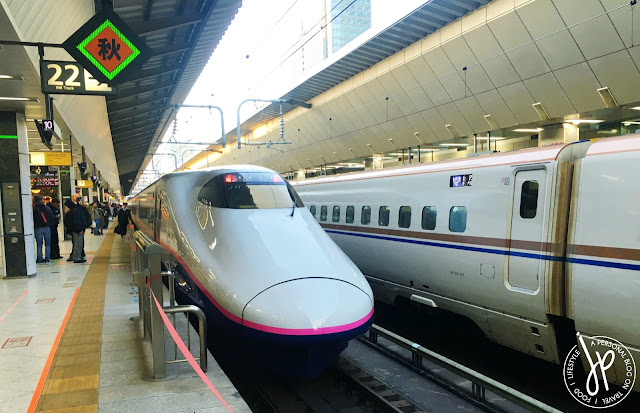 bullet train on platform 22