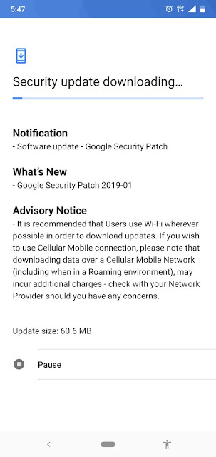 Nokia 7.1 January 2019 Android Security patch