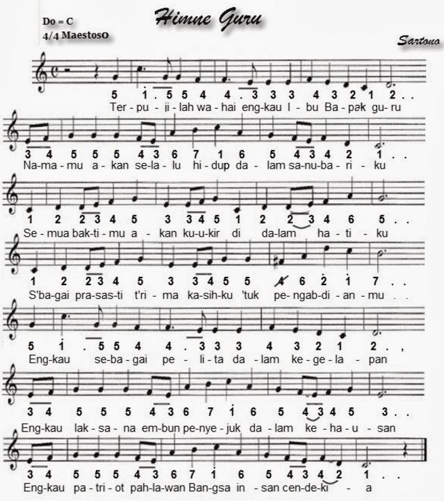 Hymne Guru - Lagu Nasional