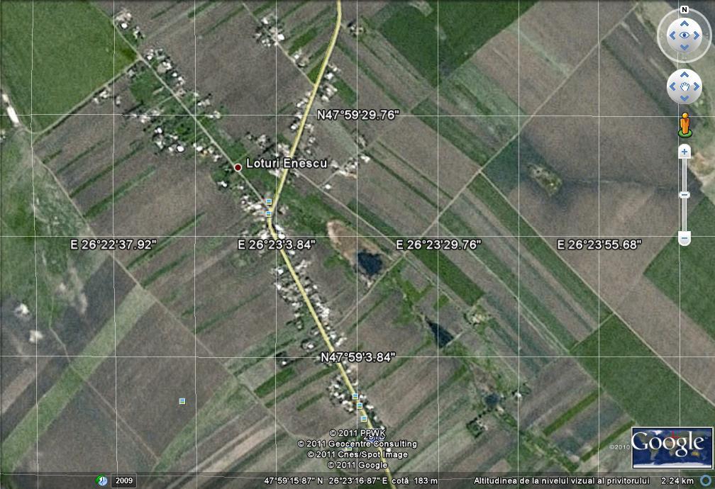 Romania harta satelit
