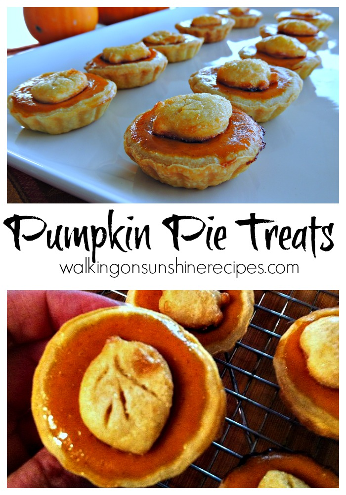 Mini Pumpkin Pie Treats make the perfect dessert for Thanksgiving or any fall gathering.