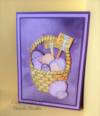 Our Daily Bread Designs, Basket of Blessings, Easter Blessings, Easter Basket die, Easter egg dies