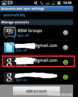 Manage Accounts and Sync