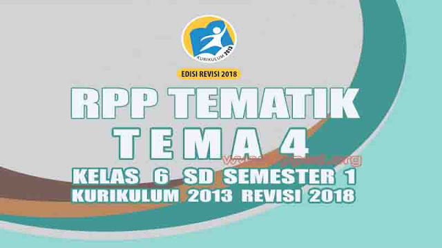 RPP Kelas 6 SD Kurikulum 2013 Revisi 2018