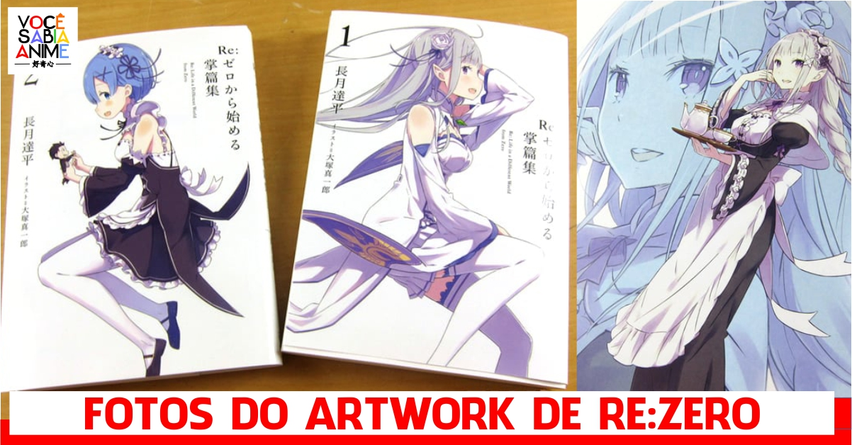 Veja fotos do novo Artwork de Re Zero