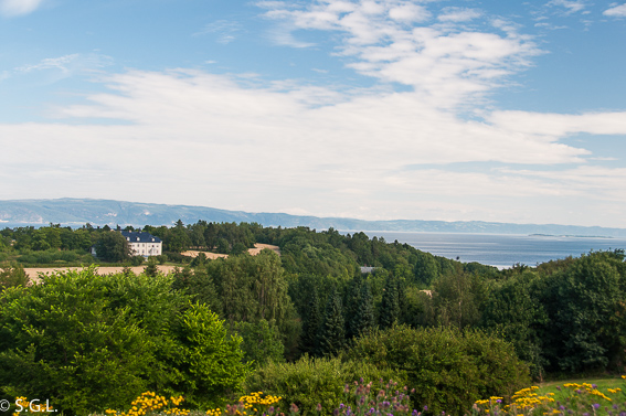 Vistas desde el museo Ringve. Noruega