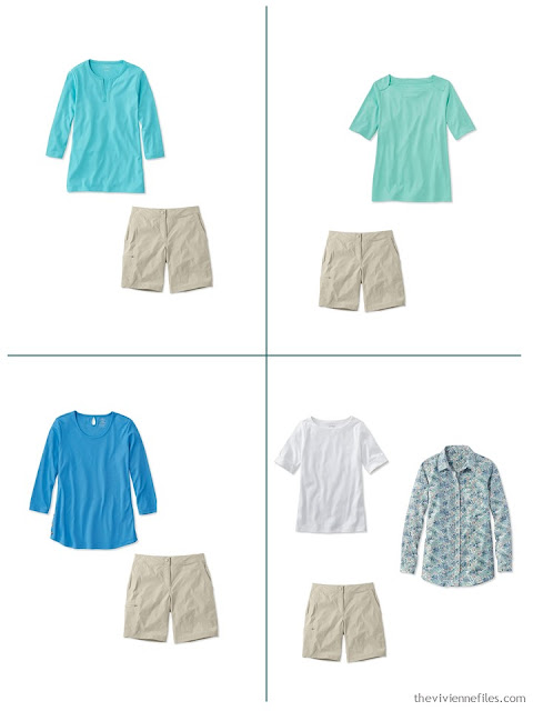 4 ways to wear beige shorts for spring